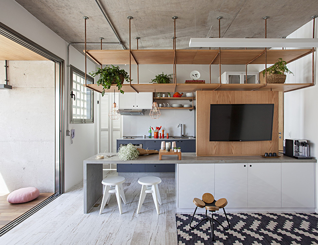 Thiết kế bar quầy ăn kết hợp phòng khách