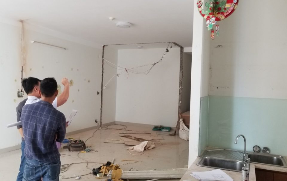 Thi công tháo dỡ phần thô căn hộ chung cư belleza quận 7