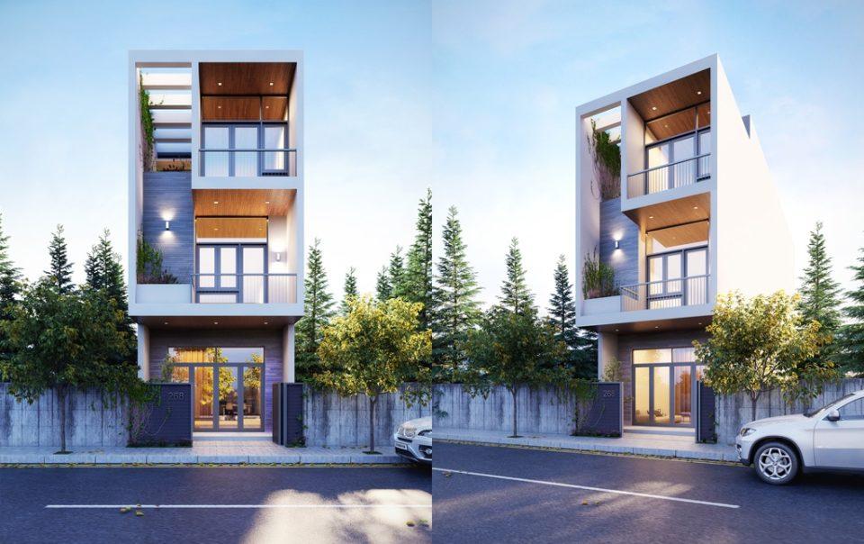 thiết kế kiến trúc nhà phố đẹp