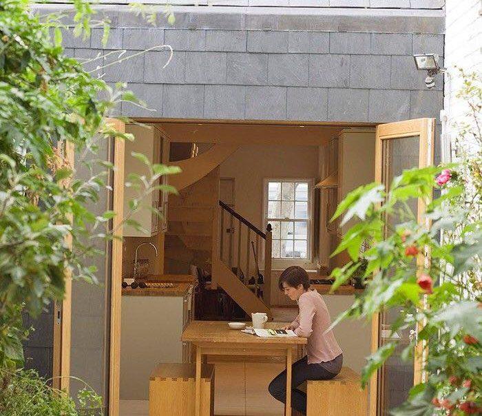 Kiến trúc mặt tiền nhà hẹp