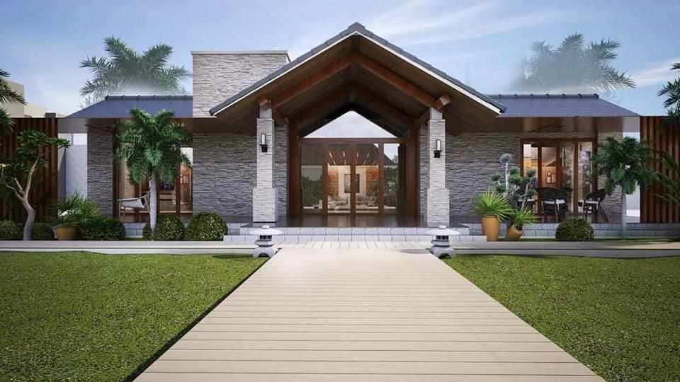 Mẫu thiết kế kiến trúc biệt thự phong cách hiện đại