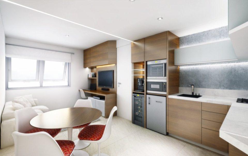 thiết kế căn hộ studio - officetel